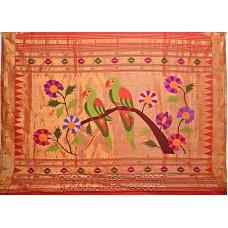 Akruti Brocade Paithani Parrot Pallu