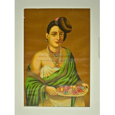 Ravi Varma Lithograph: Malabar Lady