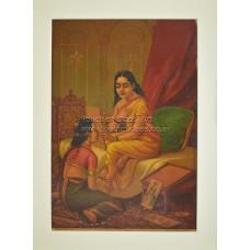 Ravi Varma Lithograph: Chitralekha