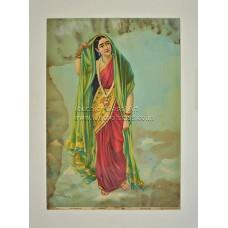 Ravi Varma Lithograph: Rambha