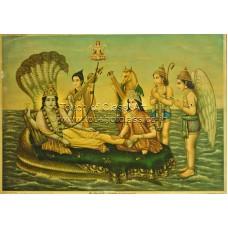 Vasudeo H Pandya Lithograph: Sheshshai