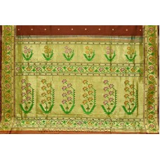 Exclusive Asawali Brocade Paithani: Recreation