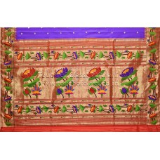 Exclusive Lotus Brocade Paithani