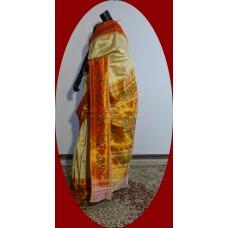 Exclusive Paisley Lotus Brocade Tissue Paithani