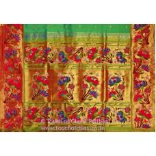 Exclusive Ajanta Lotus Brocade Paithani Saree