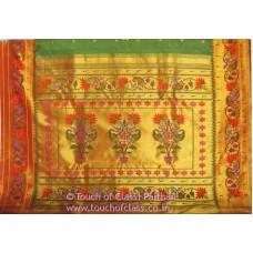 Exclusive Paisley Lotus Brocade Paithani