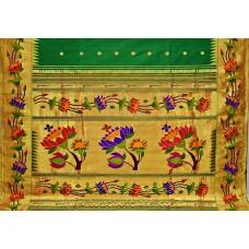 Exclusive Ajanta Lotus Brocade Paithani