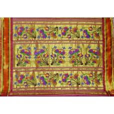Gold Band Tissue Paithani Saree