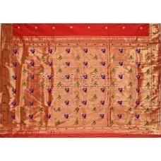 Muniya Brocade Paithani Silk Saree