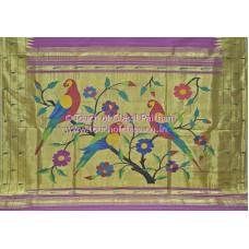 Muniya Paithani Cotton