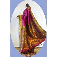 Parrot Peacock Asawali Half-n-Half Paithani