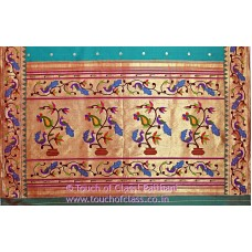Peacock-Parrot Paithani Silk Saree