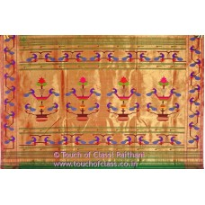 Peacock Paithani Silk Brocade Saree
