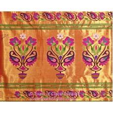Exclusive Paisley Rose Brocade Paithani