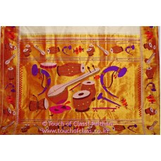 Exclusive Musical Instruments Brocade Paithani