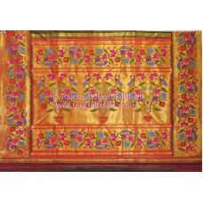 Exclusive Flowering Ensemble Brocade Paithani