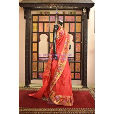 Exclusive Flowering Ensemble Brocade Paithani